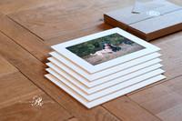 Six bespoke fine art mounted prints in a gift box.