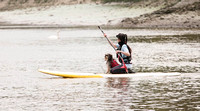 Human and Dog Paddle Boarding Event Kew Bridge London