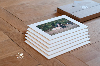 Six bespoke fine art mounted prints in a gift box.